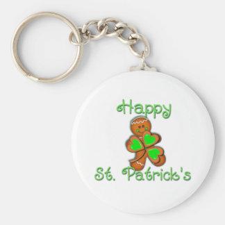 SHAMROCK BOY HAPPY ST. PATRICKS by SHARON SHARPE Basic Round Button Key Ring