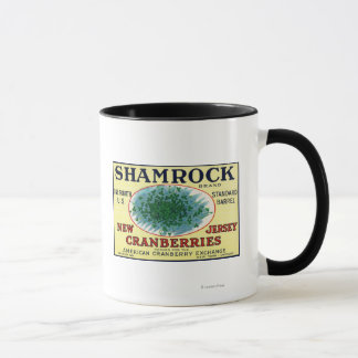 Shamrock Brand Cranberry Label Mug