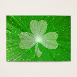 Shamrock business card template chubby