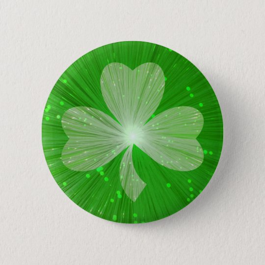 Shamrock button badge