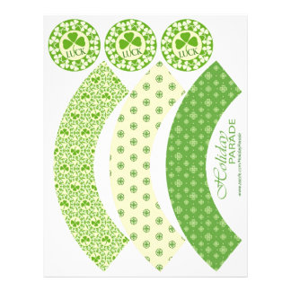 Shamrock Circles Cupcake Wrappers 21.5 Cm X 28 Cm Flyer
