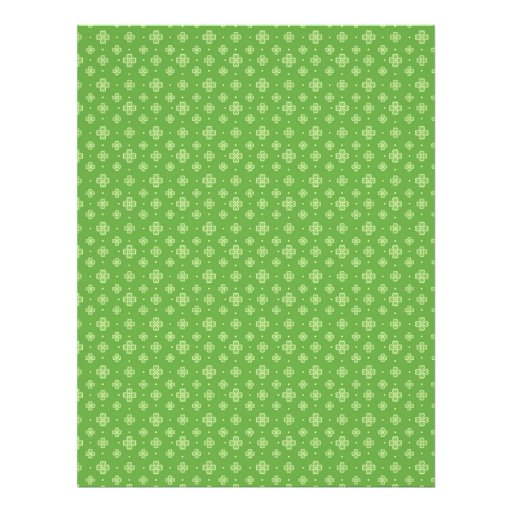 Shamrock Circles Dual-sided Scrapbook Paper 3 Full Color Flyer