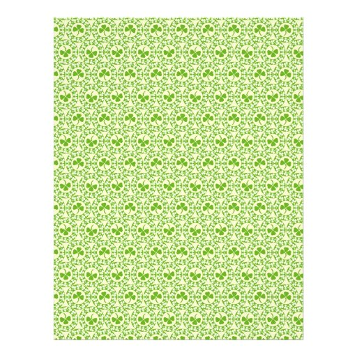 Shamrock Circles Dual-sided Scrapbook Paper Personalized Flyer