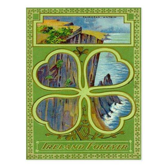 Shamrock Cliff Fairhead Antrim Postcard