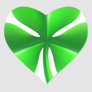 Shamrock Clover Leaf Heart Sticker