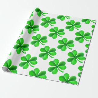 Shamrock Clover Leaf Wrapping Paper