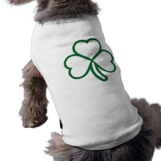 Shamrock clover sleeveless dog shirt