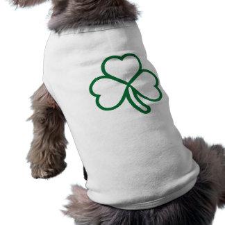 Shamrock clover sleeveless dog shirt