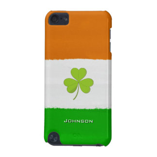Shamrock Clover with Ireland Flag Vintage Grain Bg iPod Touch (5th Generation) Cover
