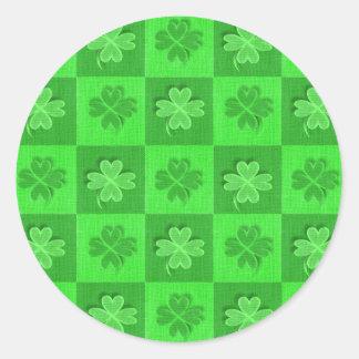 Shamrock Clovers Classic Round Sticker