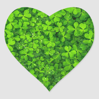 Shamrock Clovers Green Irish Symbol Ireland Heart Sticker