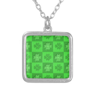 Shamrock Clovers Silver Plated Necklace
