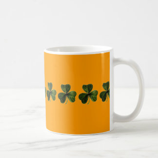 shamrock, coffee mug