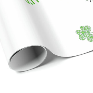 Shamrock Collage Custom Wrapping Paper