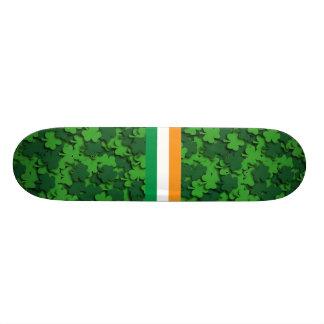 Shamrock Confetti Skateboard
