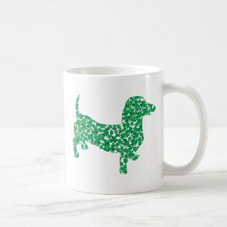 Shamrock Dachshund Coffee Mug