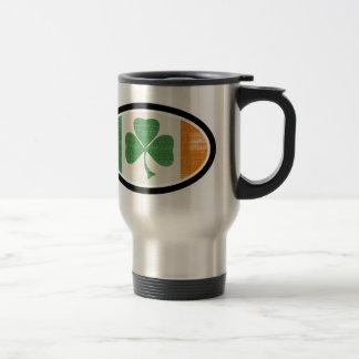 Shamrock flag oval mugs