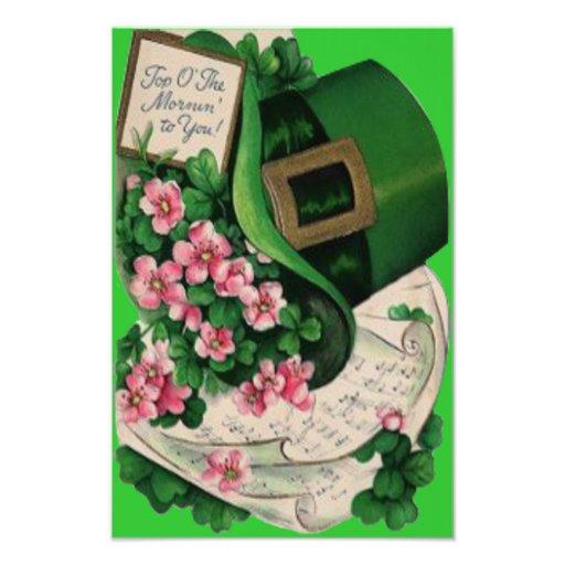 Shamrock Flower Leprechaun Hat Sheet Music Photographic Print