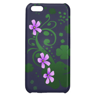 Shamrock Flowers Cover For iPhone 5C