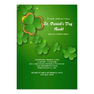 Shamrock Flurry Invitation