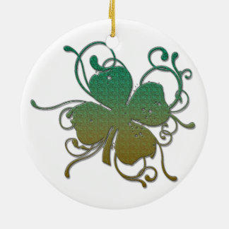 Shamrock for St. Patrick's Day Christmas Ornament