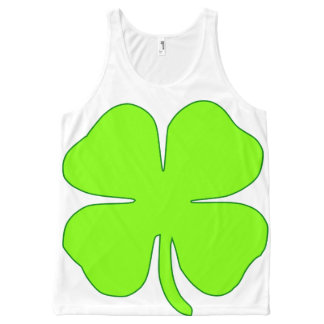 Shamrock Four Leaves All-Over Printed Unisex Tank All-Over Print Tank Top