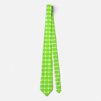 Shamrock Four Leaves Green Tie