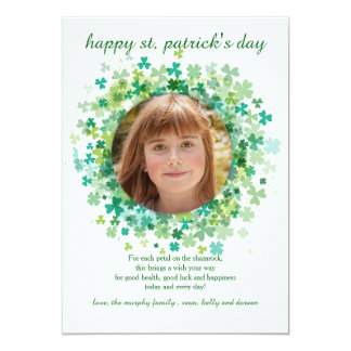 Shamrock Frame St. Patrick's Day Card 13 Cm X 18 Cm Invitation Card