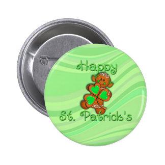 SHAMROCK GIRL HAPPY ST. PATRICKS by SHARON SHARPE 6 Cm Round Badge