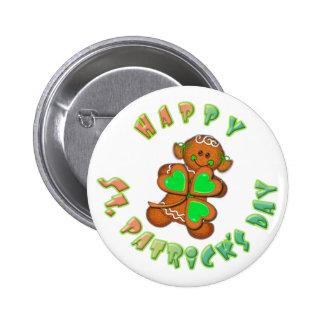 SHAMROCK GIRL HAPPY ST PATRICKS by SHARON SHARPE Pinback Button
