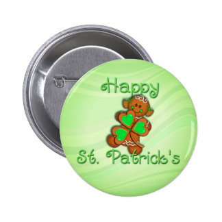 SHAMROCK GIRL HAPPY ST PATRICKS by SHARON SHARPE Pinback Buttons