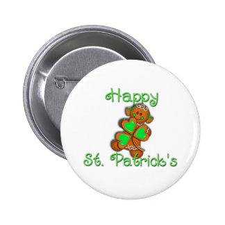 SHAMROCK GIRL HAPPY ST PATRICKS by SHARON SHARPE Buttons