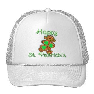 SHAMROCK GIRL HAPPY ST PATRICKS by SHARON SHARPE Mesh Hat