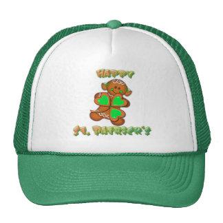 SHAMROCK GIRL HAPPY ST PATRICKS by SHARON SHARPE Mesh Hats