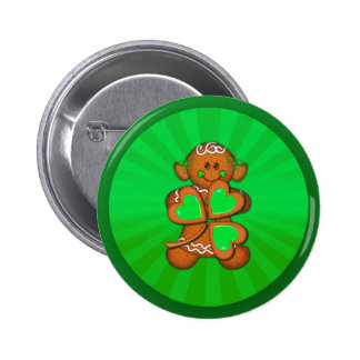 SHAMROCK GIRL LIGHT RAYS by SHARON SHARPE Pinback Buttons