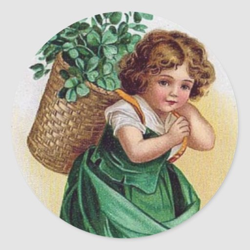 Shamrock Girl - Sticker