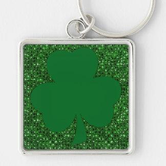 Shamrock Glitter Keychain