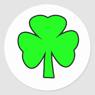 Shamrock Green Black The MUSEUM Zazzle Gifts Sell Stickers