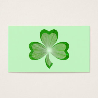 Shamrock Green business card