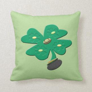 Shamrock Green Clover Cushion