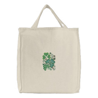 Shamrock Green Embroidered Tote Bags