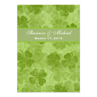 Shamrock Green Irish Wedding Invitation