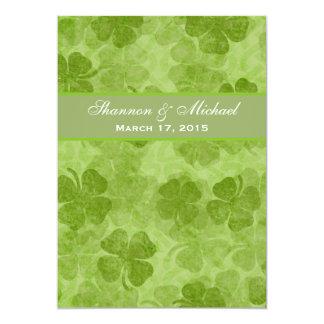"""Shamrock Green Irish Wedding Invitation 5"""" X 7"""" Invitation Card"""