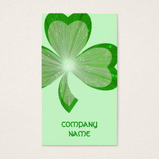 Shamrock Green Large business card