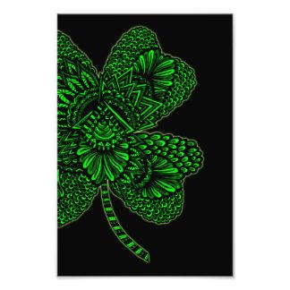 Shamrock - Green Photographic Print