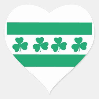 Shamrock Green River Heart Sticker