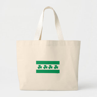 Shamrock Green River St. Patrick's Day Chicago Large Tote Bag