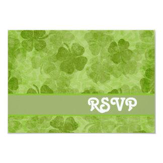 Shamrock Green RSVP Card 9 Cm X 13 Cm Invitation Card