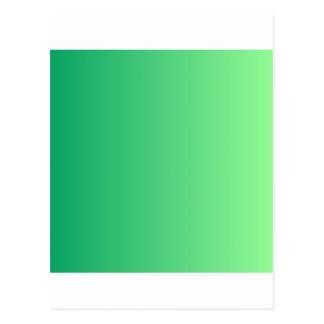 Shamrock Green to Mint Green Vertical Gradient Postcard