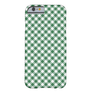 Shamrock Green, White Check Gingham iPhone 6 Case